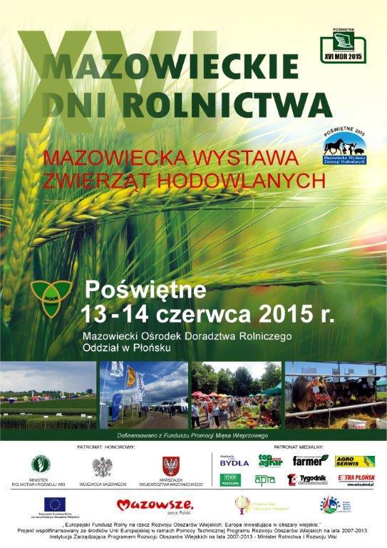 XVI Mazowieckie Dni Rolnictwa - 13-14 czerwca